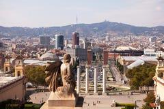 Vue du Musée National de l'art, Barcelone Photographie stock libre de droits