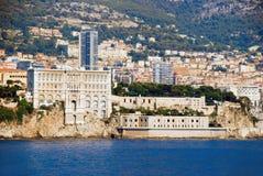 Vue du musée océanographique du Monaco, Monte Carlo de Images stock
