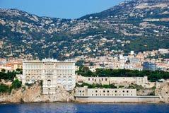 Vue du musée océanographique du Monaco, Monte Carlo de Photos libres de droits