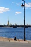 Vue du Neva Photos libres de droits