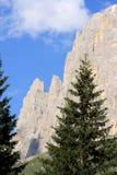 Vue du nigra de Passo, dolomites italiennes Photo stock