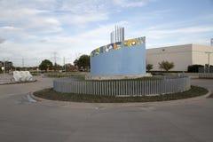 Vue du nord de la station TX de Carrollton Frankford photo libre de droits
