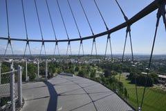 Vue du nord de la tour de stationnement, Stuttgart Images stock