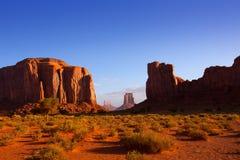 Vue du nord Utah de fenêtre de vallée de monument Photos libres de droits