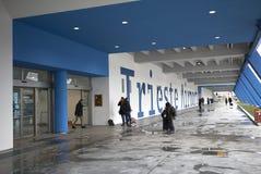 Vue du nouvel aéroport de Trieste Photographie stock libre de droits