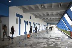 Vue du nouvel aéroport de Trieste Images libres de droits