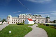 Vue du palais de belvédère à Vienne l'autriche images stock