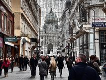 Vue du palais de Hofburg au centre de la ville de Vienne images libres de droits