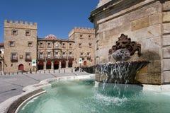 Vue du palais de Revillagigedo à Gijon Image libre de droits