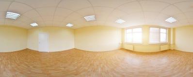 vue du panorama 360 dans l'intérieur vide moderne d'appartement, panorama sans couture de degrés Images libres de droits