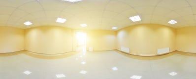 vue du panorama 360 dans l'intérieur vide moderne d'appartement, panorama sans couture de degrés Images stock
