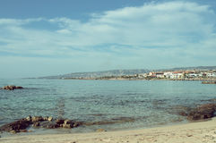 Vue du Paphos littoral du littoral Photographie stock