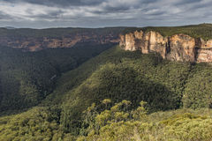 Vue du parc national NSW, Australie de montagnes bleues images stock