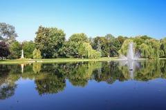 Vue du parc public Kielce/en Pologne photo libre de droits