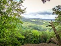 Vue du paysage de la haute roche Images libres de droits