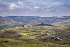 Vue du paysage montagneux photos libres de droits