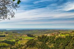 Vue du paysage montagneux image stock