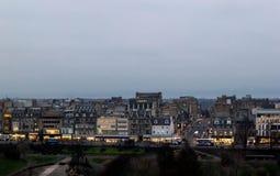 Vue du paysage urbain d'Edimbourg image libre de droits