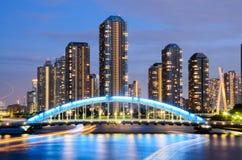 Vue du paysage urbain de Tokyo et de la rivière de Sumida images libres de droits