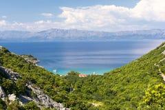 Vue du Peljesac en Dalmatie Photographie stock libre de droits