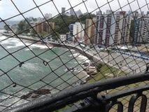 Vue du phare de Barra Photographie stock libre de droits