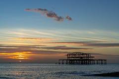 Vue du pilier occidental en Brighton East Sussex le 8 janvier 2019 images libres de droits