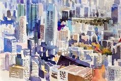 Vue du point de repère de ville du Japon illustration stock