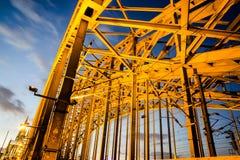 Vue du pont de Hohenzollern image libre de droits