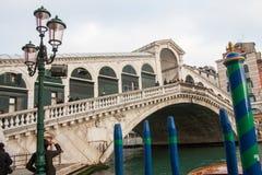 Vue du pont de Rialto, Venise, Vénétie, Italie Photos stock