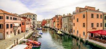 Vue du pont de Vigo dans Chioggia (Italie) Images stock