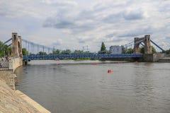 Vue du pont en acier à Wroclaw/en Pologne photos libres de droits