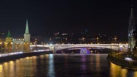 Vue du pont sur Moscou Kremlin et banque de vidéos