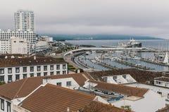 Vue du Ponta Delgada - San Miguel Island, Açores Images libres de droits