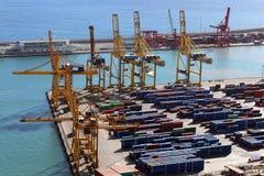 Vue du port de Barcelone Photographie stock libre de droits