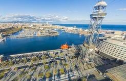 Vue du port de Barcelone Espagne photographie stock libre de droits