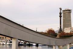 Vue du port de Barcelone vers la ville photos libres de droits