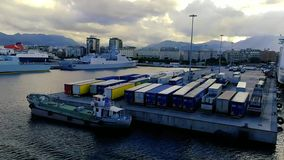 Vue du port de Palerme banque de vidéos