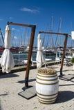 Vue du port de Rome photographie stock libre de droits