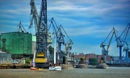 Vue du port et des sous-marins Photos stock