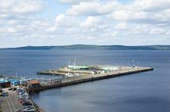 Vue du port Petrozavodsk Image libre de droits
