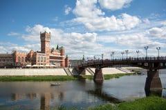 Vue du remblai de la ville d'Iochkar-Ola Photographie stock