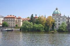 Vue du remblai de Vltava, Prague Images libres de droits