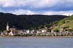 Vue du Rhin à St Goar Photo stock