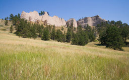 Vue du Ridge au fort Robinson State Park, Nébraska Image libre de droits