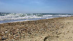 Vue du rivage avec la Mer Noire banque de vidéos
