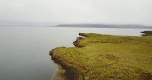 Vue du rivage de l'océan du nord banque de vidéos