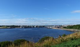 Vue du ` s d'amiral Collingwood, Tynemouth Image stock