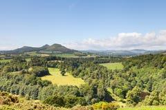 Vue du ` s de Scott dans les frontières écossaises images libres de droits