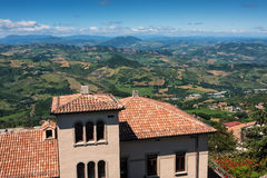 Vue du Saint-Marin Photographie stock