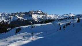 Vue du secteur de ski de Flumserberg, Mt Hochfinsler Image stock